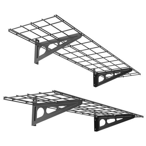 FLEXIMOUNTS Garage Storage Rack Wall Shelf Set (Set of 2)