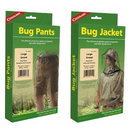 Coghlan's Bug Suit Pants & Jacket Large Black Unisex Lightweight Mosquito (Mosquito Jacket)