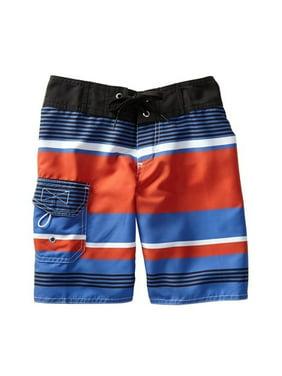 Azul Boys Red Blue Freedom Boardshorts Drawstring Swimwear Trunks