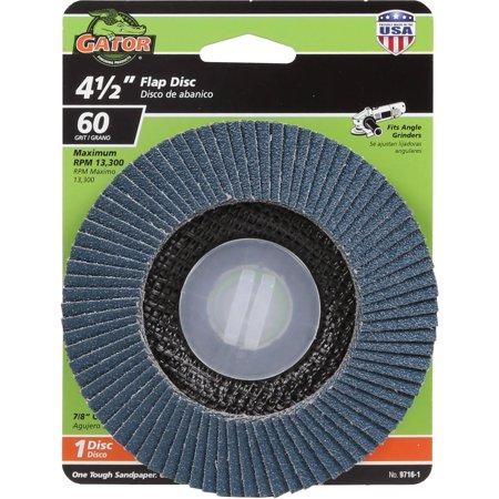 Gator Grit 4.5-Inch Zirconium Oxide Flap Disc Wheel, 60G