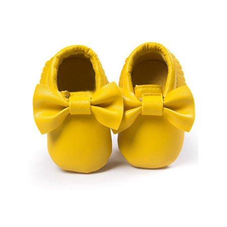 5bfcfaf89f1 JLONG Toddler Infant Boys Girls Bowknot Crib Shoes Baby Kid Soft Sole  Leather Prewalker - Walmart.com