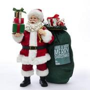Fabriche Santa with Oversize Sack Christmas Figurine 10.5 Inch FA0110 New
