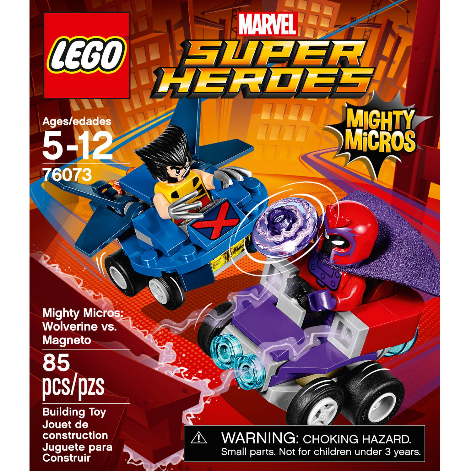 LEGO 76073 SUPER HEROES Mighty Micros Wolverine vs Magneto BRAND NEW!!