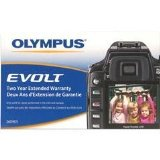 Olympus 2 Year Extended Warranty Service Plan for Evolt Digital Cameras
