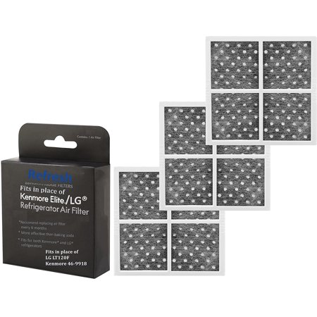 Replacement Carbon Filters For Kenmore Elite CleanFlow, LG LFX Series Refrigerators, 3 Pack ()