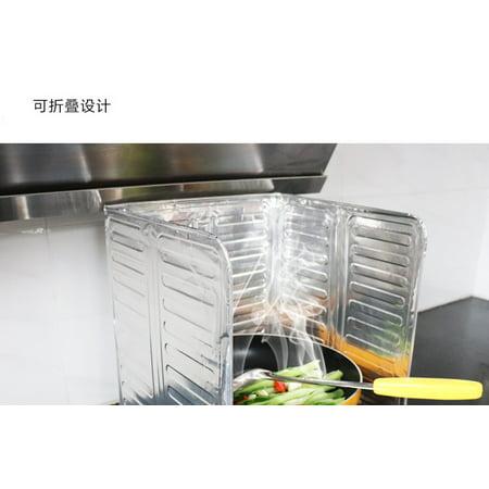 3 Sides Oil Splash Guard Aluminum Foil Stoe Shield Oil Splatter Screen Insulation Protector Kitchen Tool