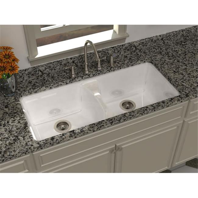 SONG S-8630-9U-70 Harmony 43 x 22 In. Kitchen Sink - White