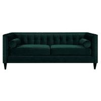 Jack Tufted Tuxedo Sofa Double Cushion, Hunter Green