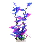 Unique Bargains Purple Green Fish Tank Aquascaping Underwater Aquatic Plant Decor 14-inch Height
