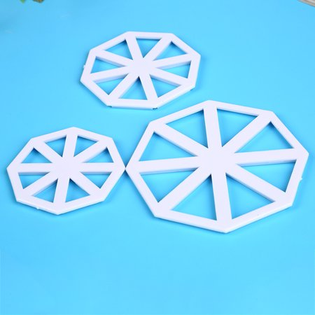 3pcs Plastic Geometric Pattern Cutting Dies Cookies Mold Cookie Moulds Set Cake Cutters Baking Tools - image 4 de 6