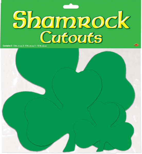 Ddi Packaged Printed Shamrock Cutouts (pack Of 96)