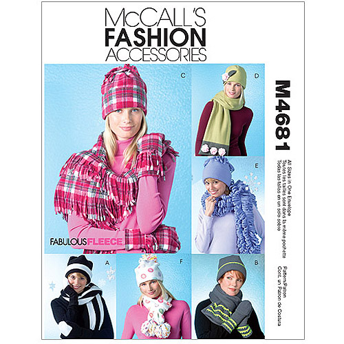 Misses' Hats, Scarves and Convertible Mittens-All Sizes in One Envelope