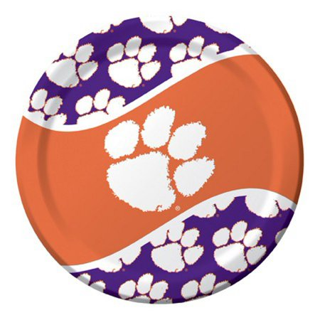 Ncaa Tailgate Party Pack (Pack of 96 NCAA Clemson Tigers Round Tailgate Party Paper Dinner Plates 8.75