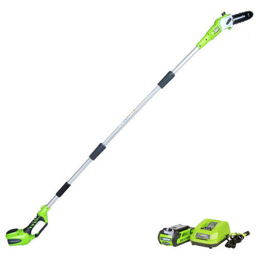Greenworks 8-Inch 40V Cordless Pole Saw, 2.0 AH Battery Included 20672 by Sunrise Global Marketing