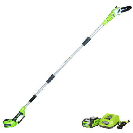 Greenworks 8-Inch 40V Cordless Pole Saw, 2.0 AH Battery Included