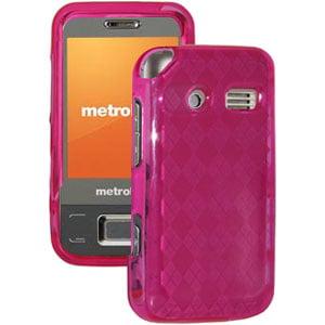 Premium Designer Luxe Argyle Skin Case for Cricket Huawei M750, Huawei M750 - Hot Pink ()