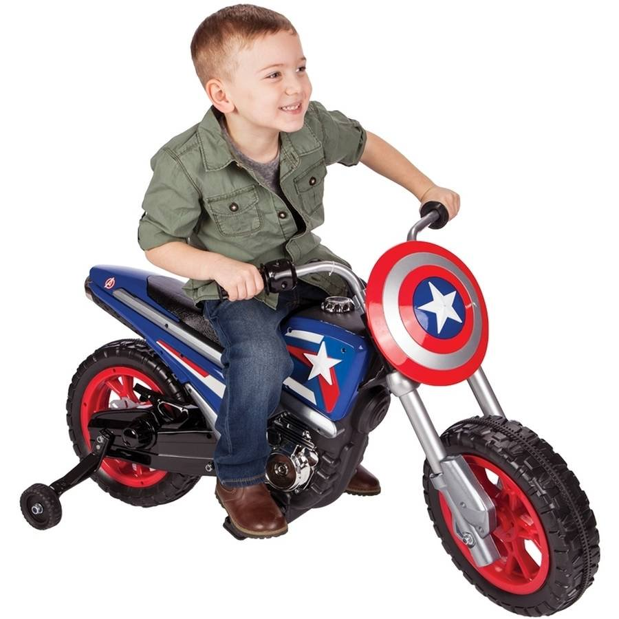 Huffy Captain America 6V Battery-Powered Ride-On Toy