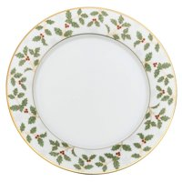 Noritake Holly and Berry Gold Salad Plate