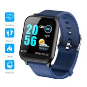 Fitness Tracker Bluetooth, EEEKit IP67 Waterproof Touchscreen Smart Wrist Watch with All-Day Heart Rate and Activity Tracking, Sleep Monitoring, Compatible with iOS Android Phones