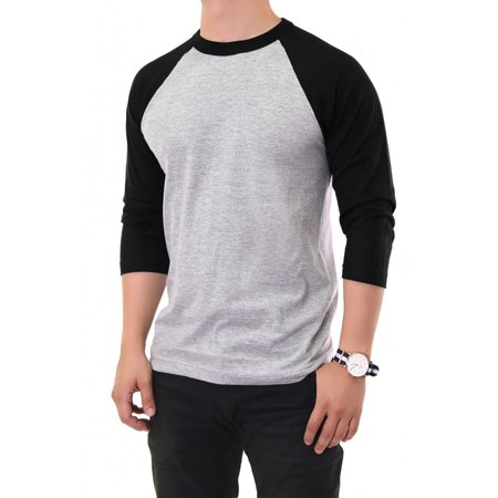 Top pro apparel men 39 s 100 cotton 3 4 length sleeve raglan for Custom raglan baseball shirt