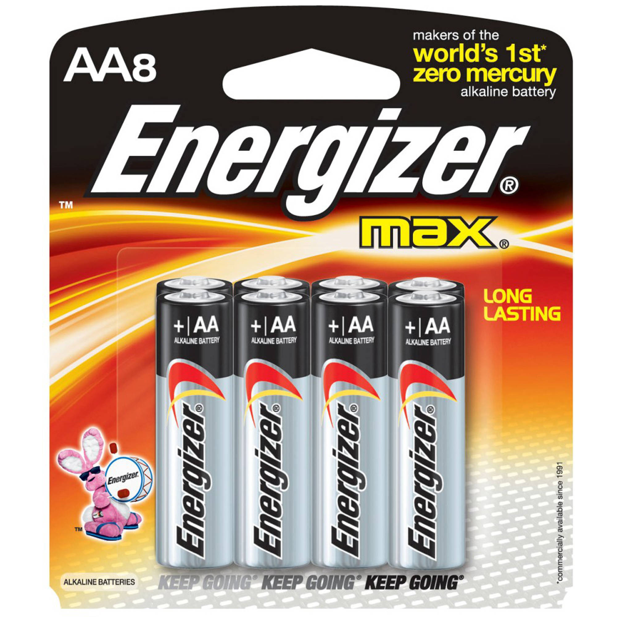 Energizer Max AA, 8 Pack Household Batteries