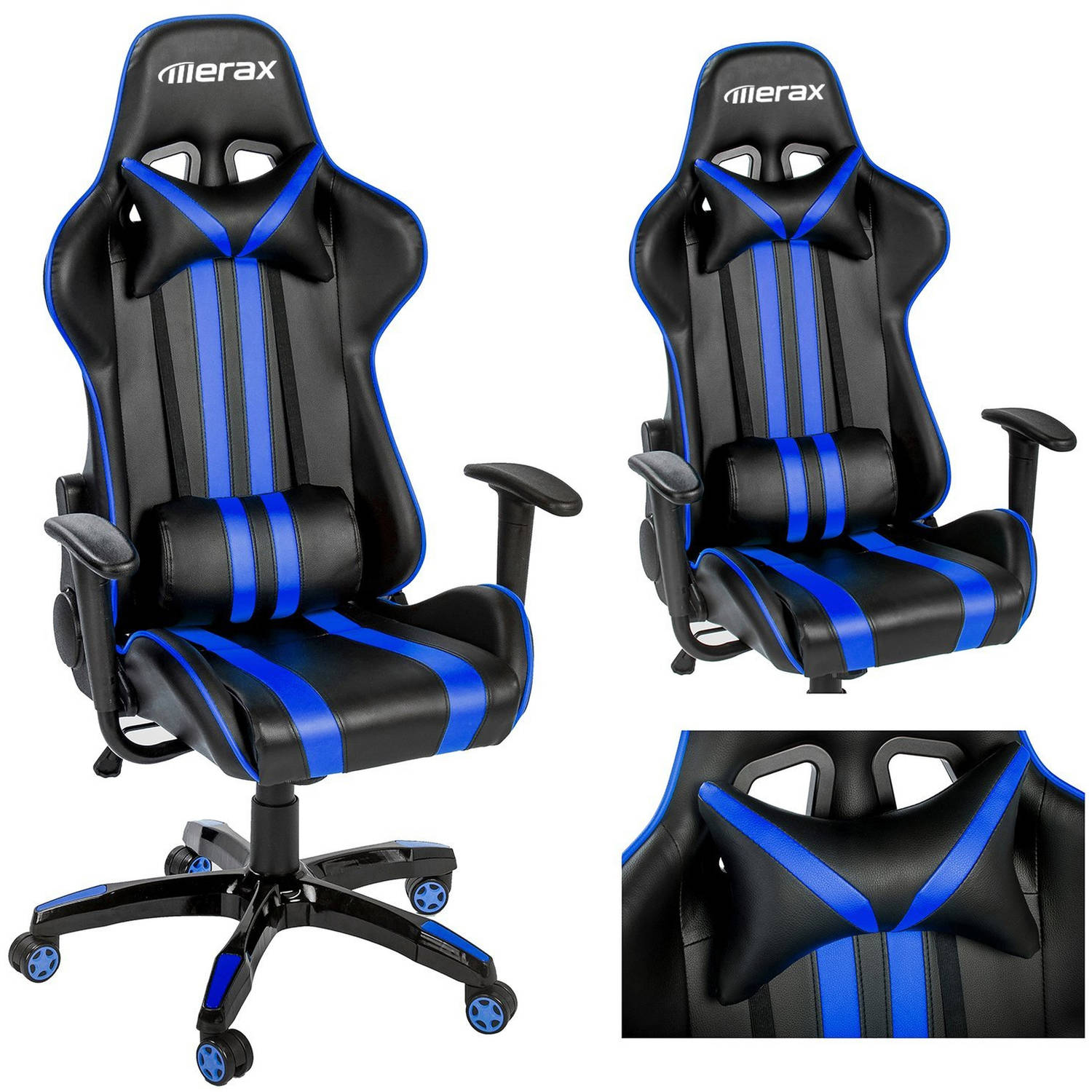 Merax Racing Style Gaming Chair Executive Swivel Leather Office Com