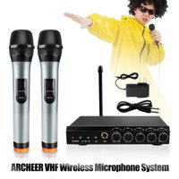 ARCHEER VHF Wireless Microphone Receiver System Handheld MicrophoneTransmitter