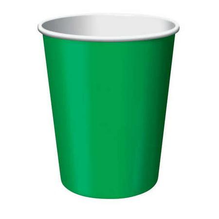 Paper Hot & Cold Cups 9oz 24/Pkg-Emerald Green - image 1 de 2
