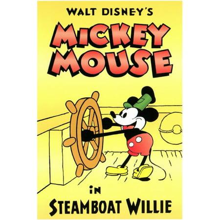 Steamboat Willie (1928) 11x17 Movie Poster - 1928 Jet