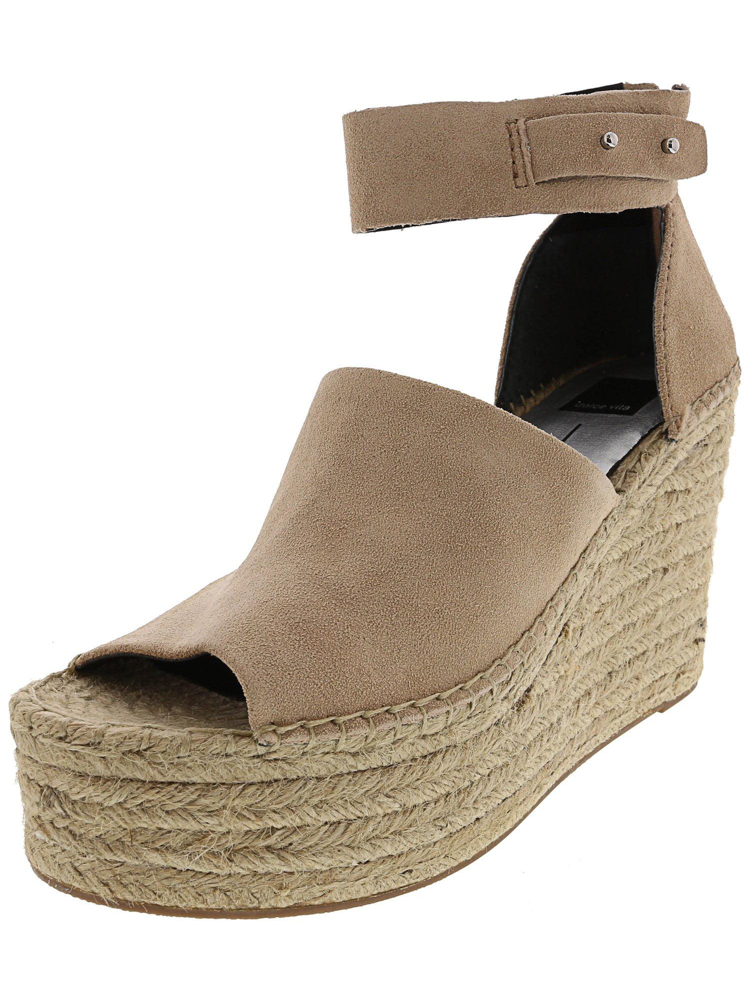 Straw Women's Platform Wedge Espadrille Sandals