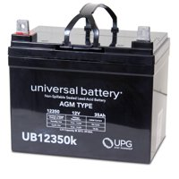 UPG UB12350 12V 35Ah L U1 AGM Battery for Mobility Wheelchairs Power Chair Scooters Pride Jazzy Select APC UPS Lawn Mower Garden Tractor Trolling Motor Rhino UTV