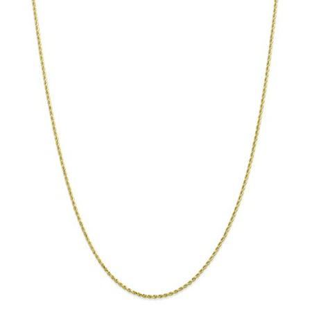 10K Yellow Gold 8In 1 50Mm Diamond Cut Rope Chain Bracelet