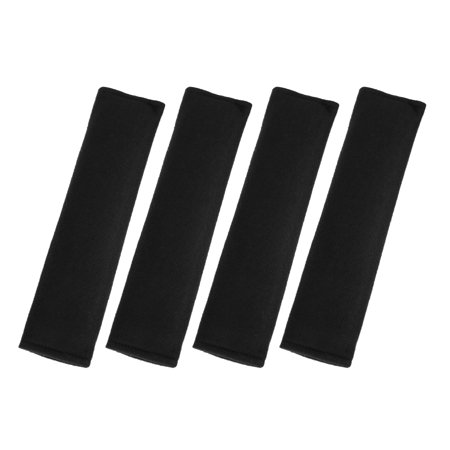 Universal Black Car Safety Seat Belt Pads Cover with Soft Polyester Fiber Auto Seatbelt Shoulder Pad 4 Pcs Car Seat Belt Cover Pad