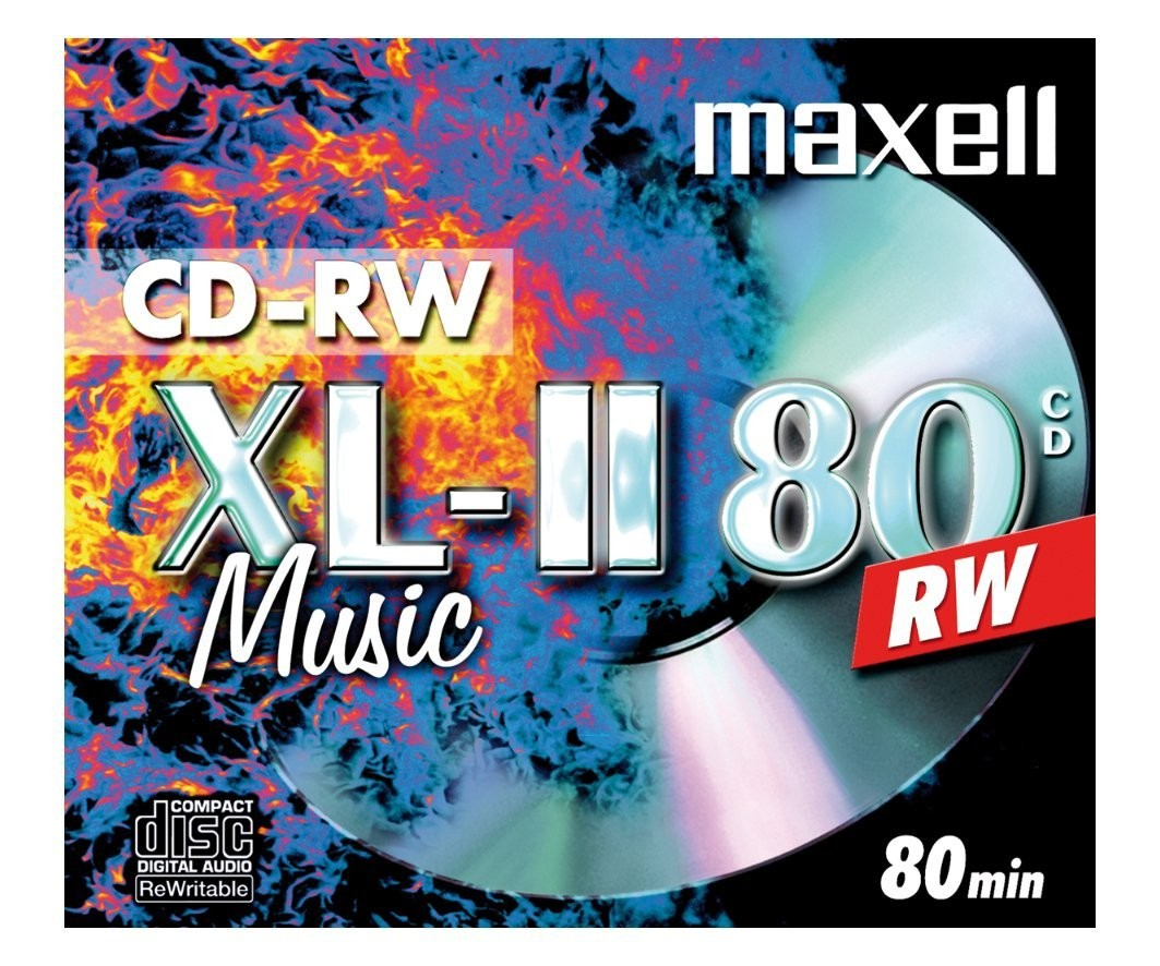 Maxell CD-RW80 Audio Pack 10 rewritable discs rewritable blank media by Maxell