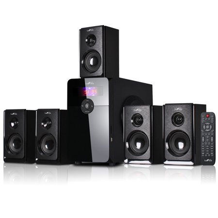beFree Sound BFS-450 5.1 Channel Surround Sound Bluetooth Speaker System in Black ()