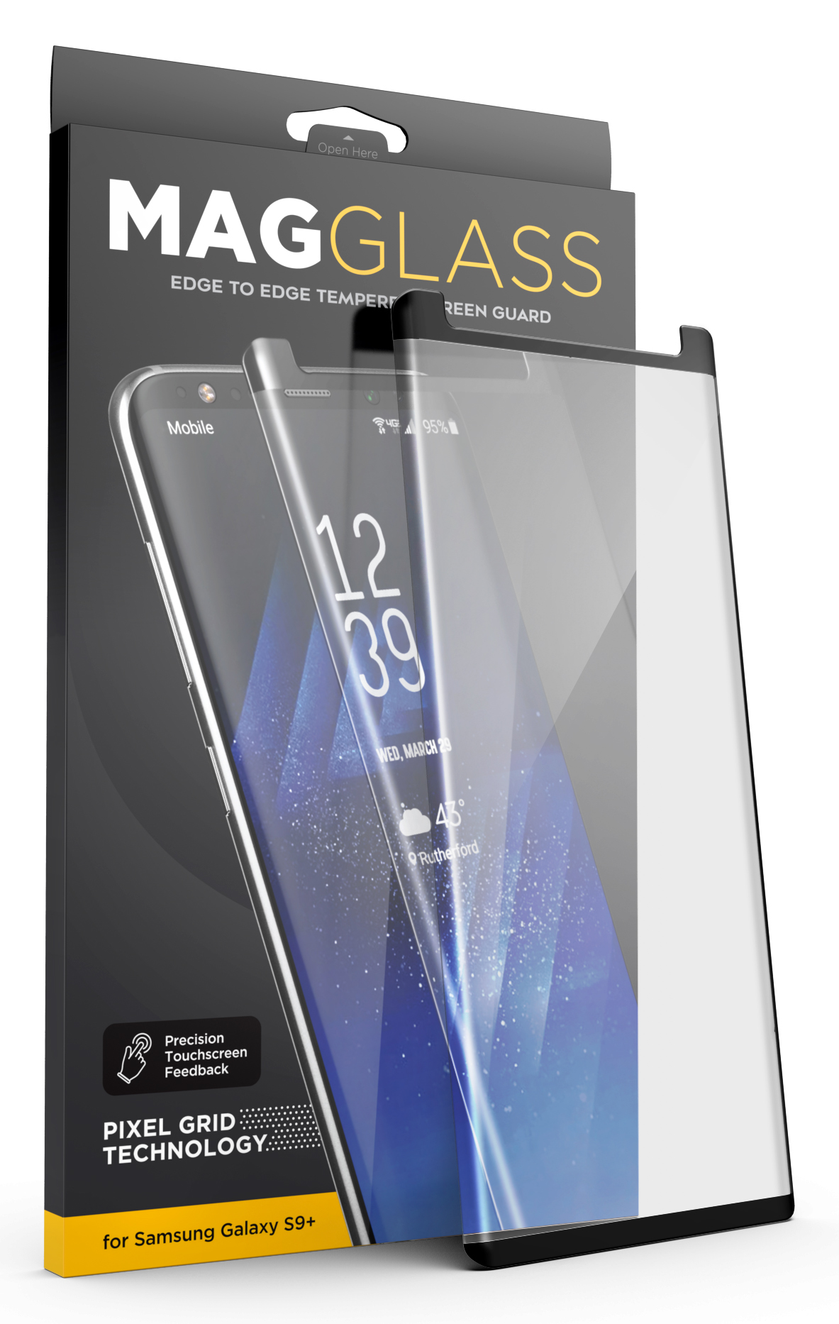 best loved 1461a 51630 Tempered Glass Screen Protector for Otterbox Defender Case - Galaxy S9 Plus