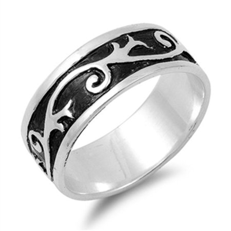 - Women's Cute Swirl Design Fashion Ring New .925 Sterling Silver Band Size 14
