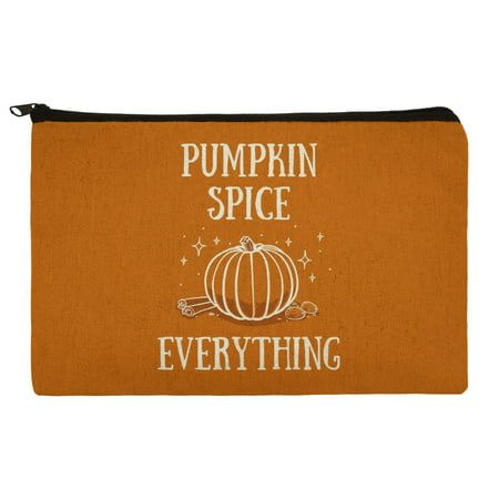 Pumpkin Spice Everything Makeup Cosmetic Bag Organizer Pouch