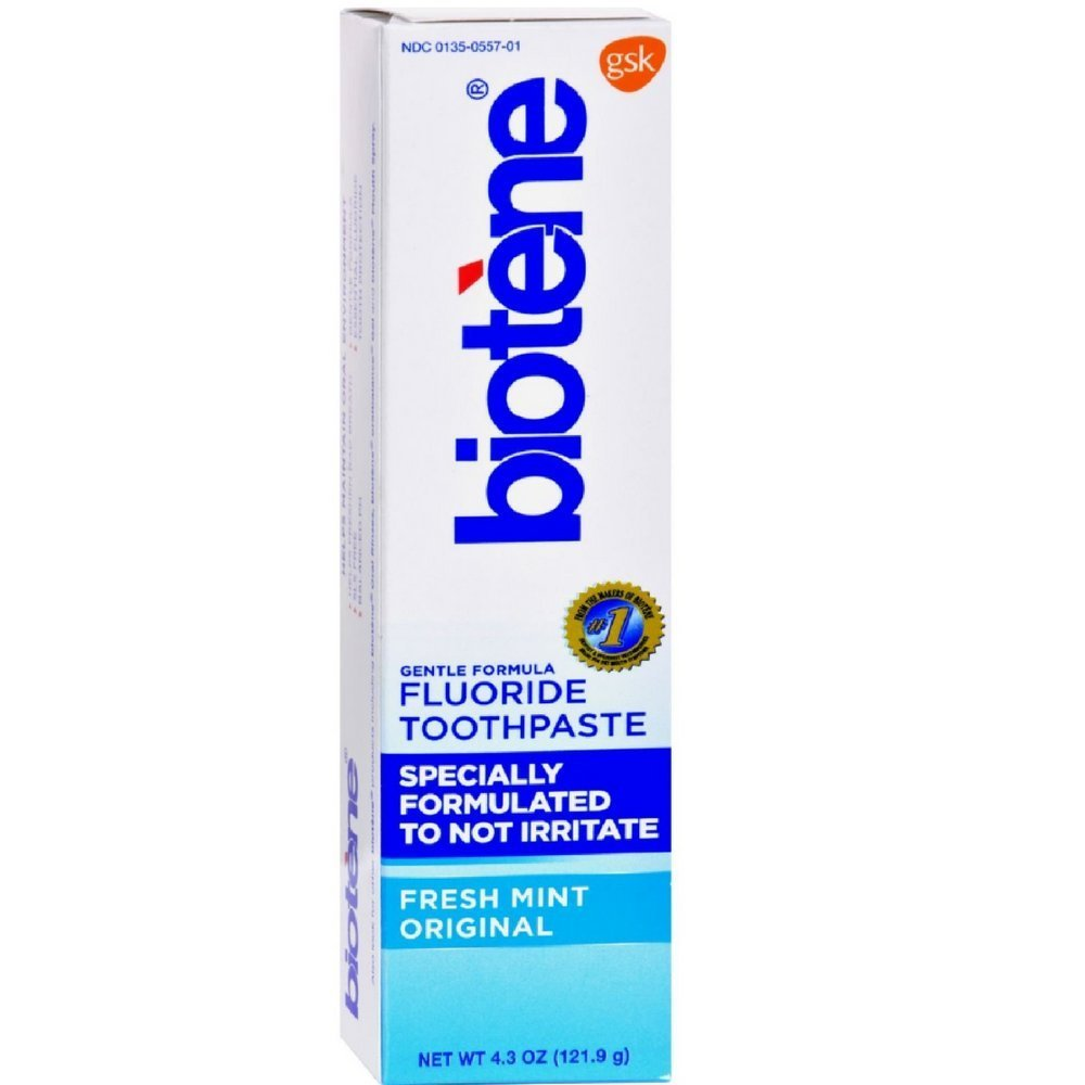 Biotene Dry Mouth Fluoride Toothpaste, Fresh Mint 4.3oz Each