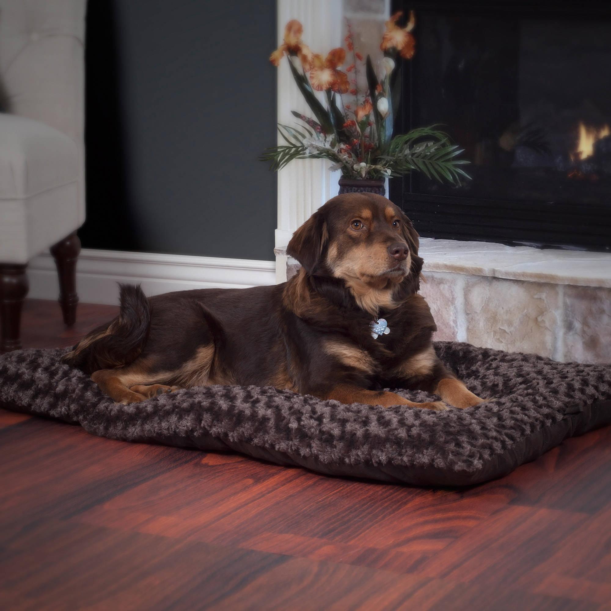 Petmaker Lavish Cushion Pillow Furry Pet Bed Walmart Com