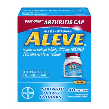 Aleve Pain Reliever Fever Reducer Gelcaps Soft Grip