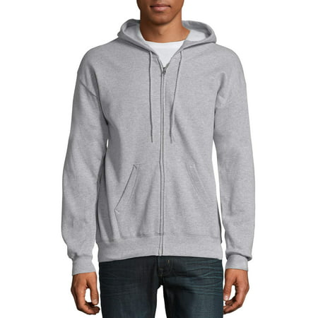 Hanes Big & Tall Men's EcoSmart Fleece Zip Pullover Hoodie with Front (Adult Black Zip Hoodie)