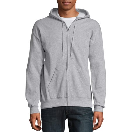 Hanes Big & Tall Men's EcoSmart Fleece Zip Pullover Hoodie with Front Pocket