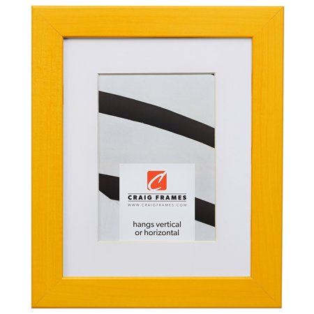 Craig Frames Colori, 20 x 24 Inch Yellow Picture Frame Matted to Display a 16 x 20 Inch