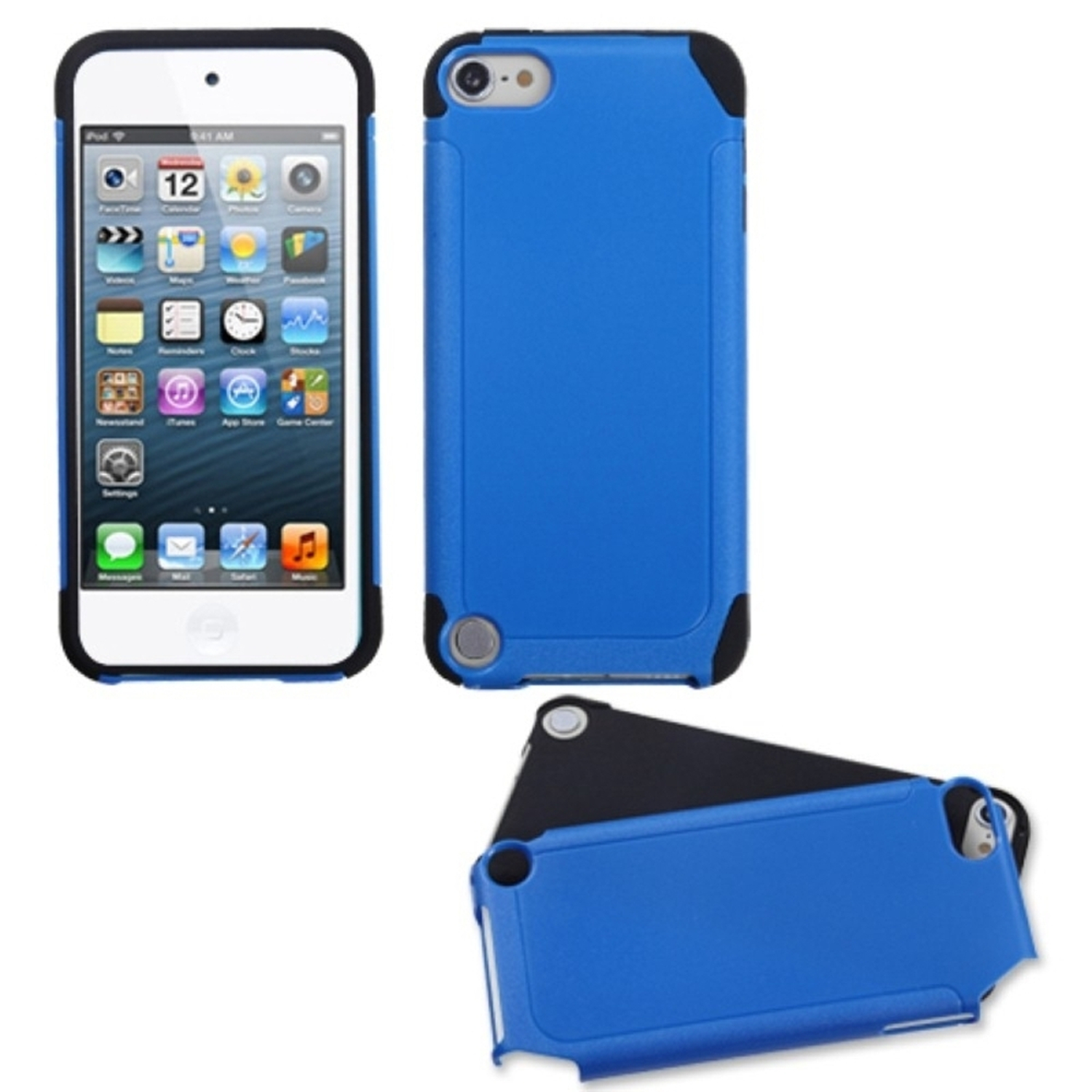 Insten Dark Blue/Black Frosted Fusion Case for iPod touch (5 5G 5th 6 6G 6th Gen)