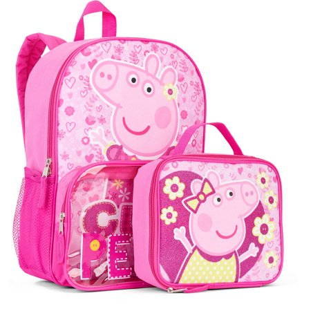 75f211c2b9ce Peppa Pig Cute Pig Backpack With Lunchbox