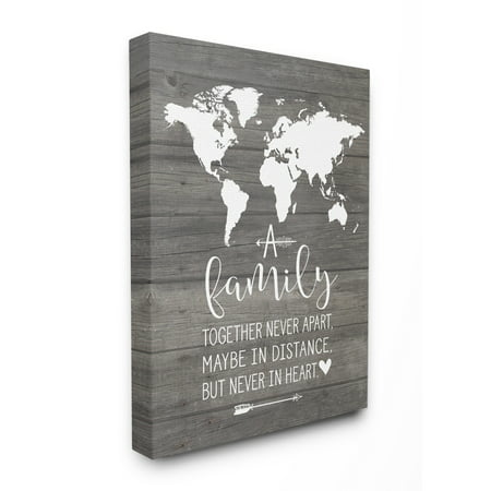 The Stupell Home Decor Collection Family Together In Heart Stretched Canvas Wall Art, 16 x 1.5 x 20