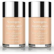 2 Pack -Neutrogena Healthy Skin Liquid Makeup Foundation, Broad Spectrum Spf 20, 105 Caramel, 1 Oz.