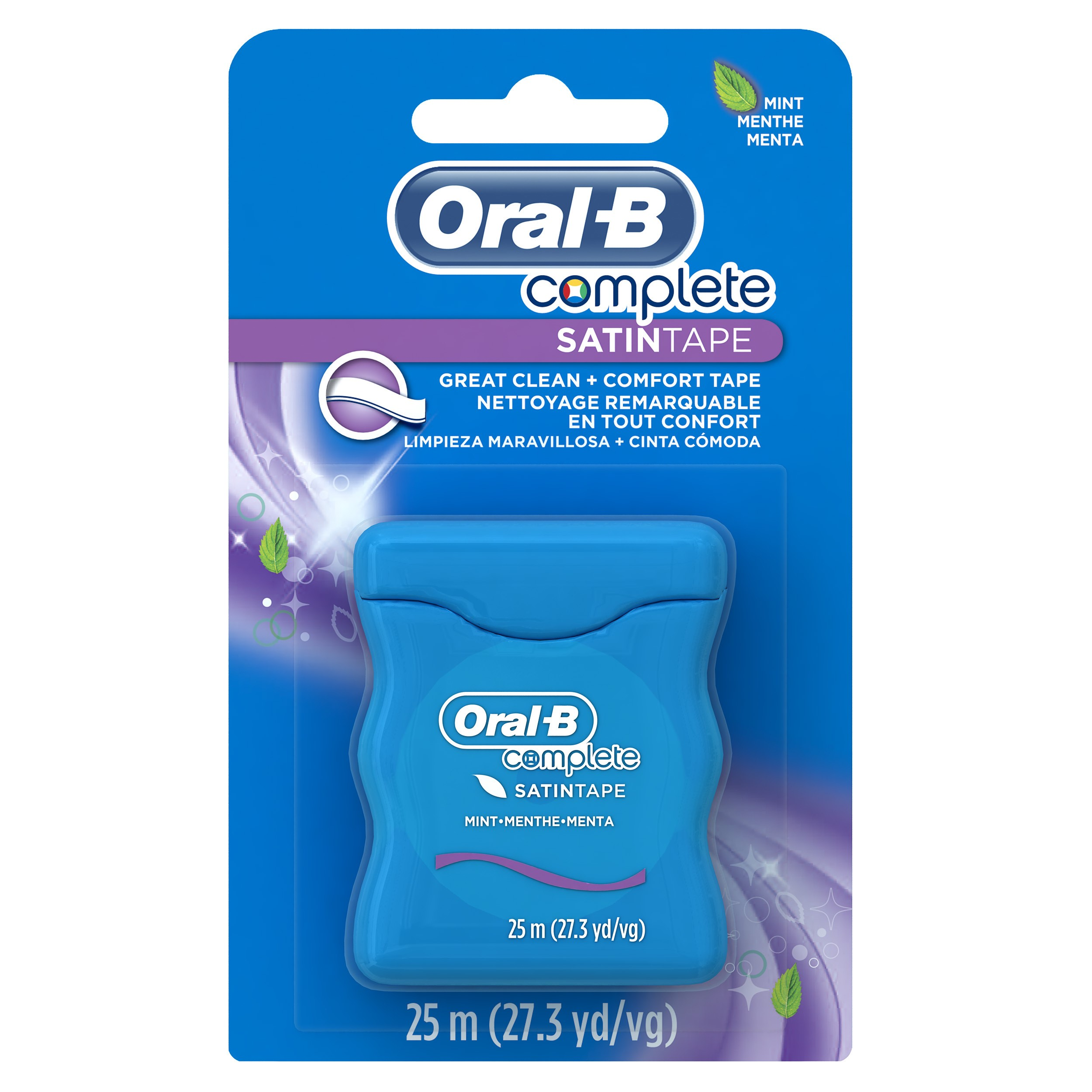 Oral-B Complete SatinTape Dental Floss, Mint, 25 M