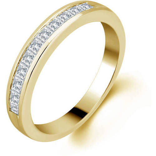 1/2 Carat T.W. Princess Diamond 10kt Yellow Gold Anniversary Band, I-J/I2-I3